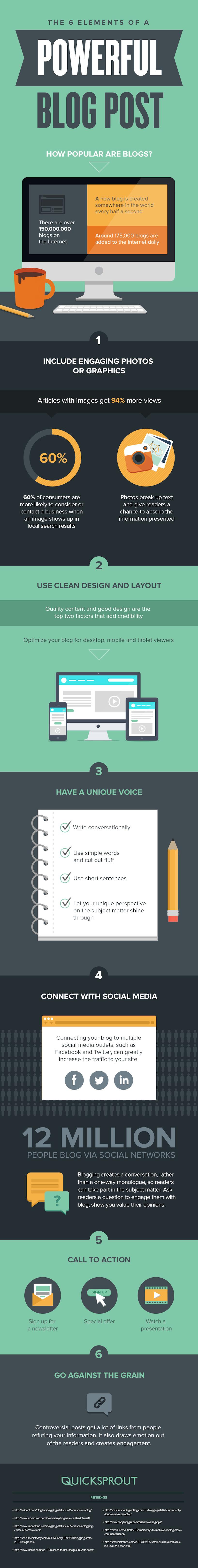 6 tips voor een krachtige blog - infographic